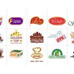 Серия разработанных логотипов торговых марок