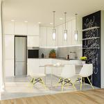 Дизайн и 3D визуализация интерьера кухни.