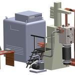 3D моделювання установки Магнітокерованої електрошлакової плавки.