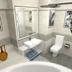 Дизайн ванной в готеле