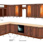 Проектирование, визуализация для изготовления кухонной мебели через Вияр