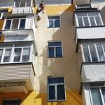 Покраска фасадов на высоте