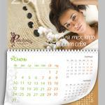 Разработка постраничного дизайна настенного перекидного календаря
