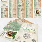 Разработка дизайна и верстка меню для ирландского паба