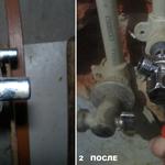 Замена краников,горячей и холодной воды