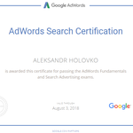 Сертификат Google Adwords.