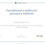Являюся сертифікованим спеціалістом із контекстної реклами в Adwords.
