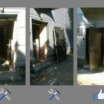 1 - Демонтаж старой двери; 2 - Монтаж новой двери.