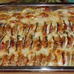 Летняя овощная запеканка из кабачков, картофеля и помидоров. Время приготовления - 40-60 минут