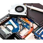 Чистка компьютеров и ноутбуков от пыли с заменой термопасты.