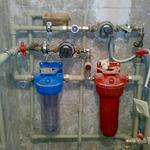 Установка магистральных фильтров воды, редукторов давления, перенос счетчиков