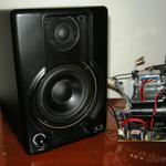 Восстановление студийного аудио-монитора m-Audio av40 после некомпетентного ремонта пользователем. Время работы без учета времени поиска и приобретения запчастей - 2 часа.
