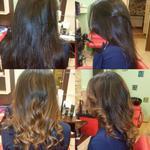 Окрашивание волос на подоле