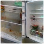 холодильник до и после. час. до и после.