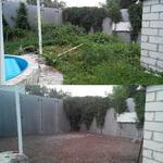 Уборка и выравнивание садового участка.